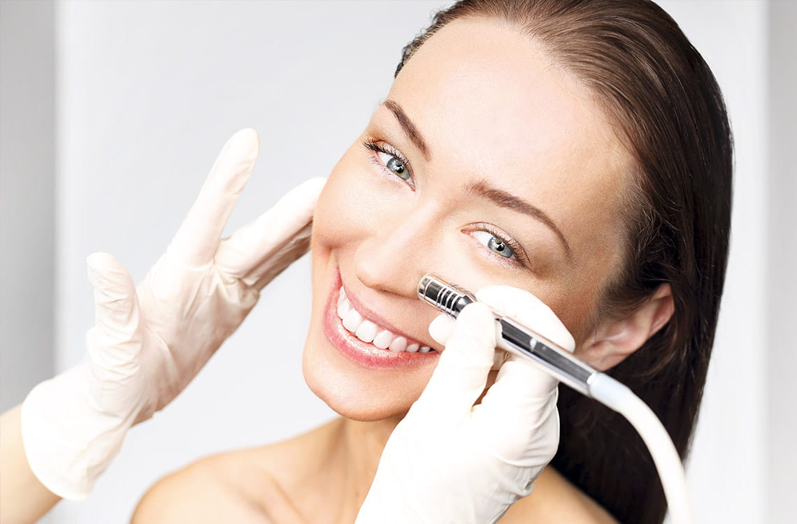Dermabrasion of the face